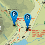 Map and Distances W Circuit Torres Del Paine