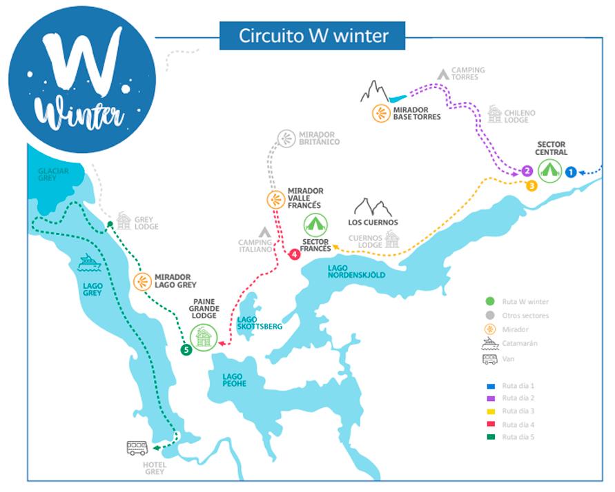 Mapa W Winter Base Torres