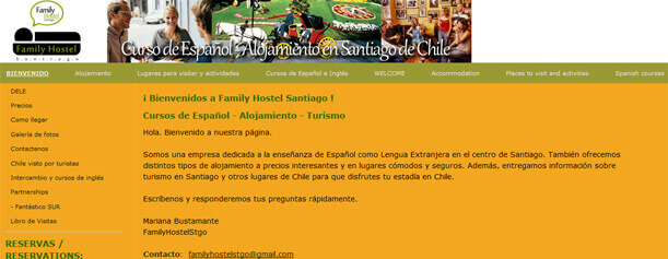 Family Hostel Santiago.