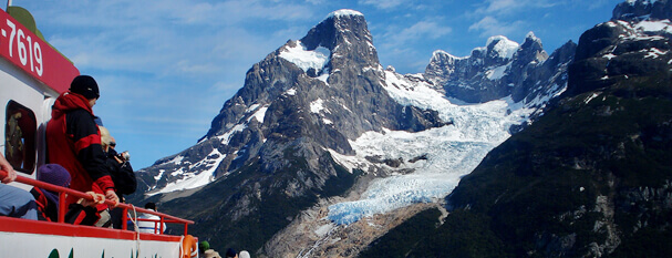Navigation to Balmaceda and Serrano Glaciers