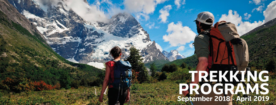 Trekking programs september 2018 - April 2019